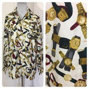 Escada vintage watch silk blouse